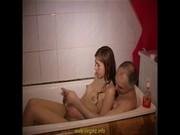Мама папа дочь в бане